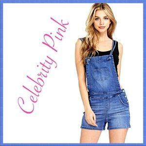 Celebrity Pink Overalls Shorts Size Medium Nwt